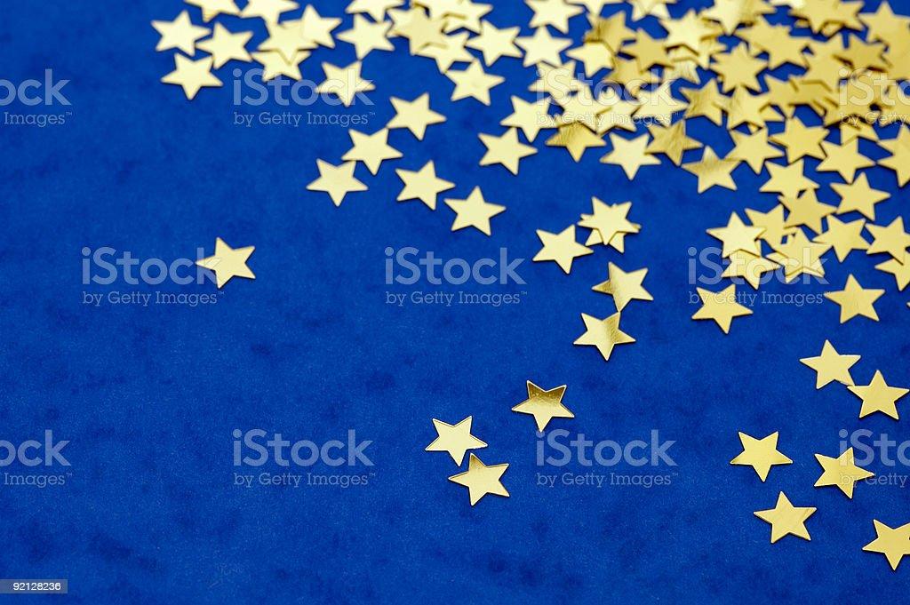 Golden Stars stock photo