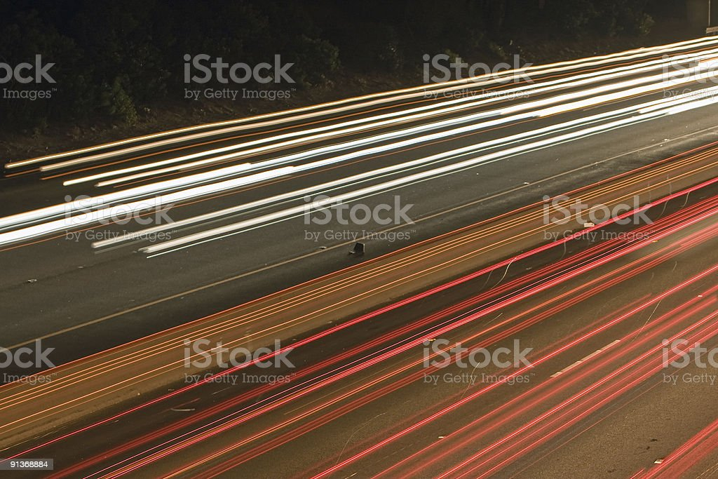 Golden State Freeway in Los Angeles stock photo