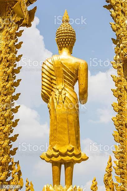 golden statue of buddishm religion