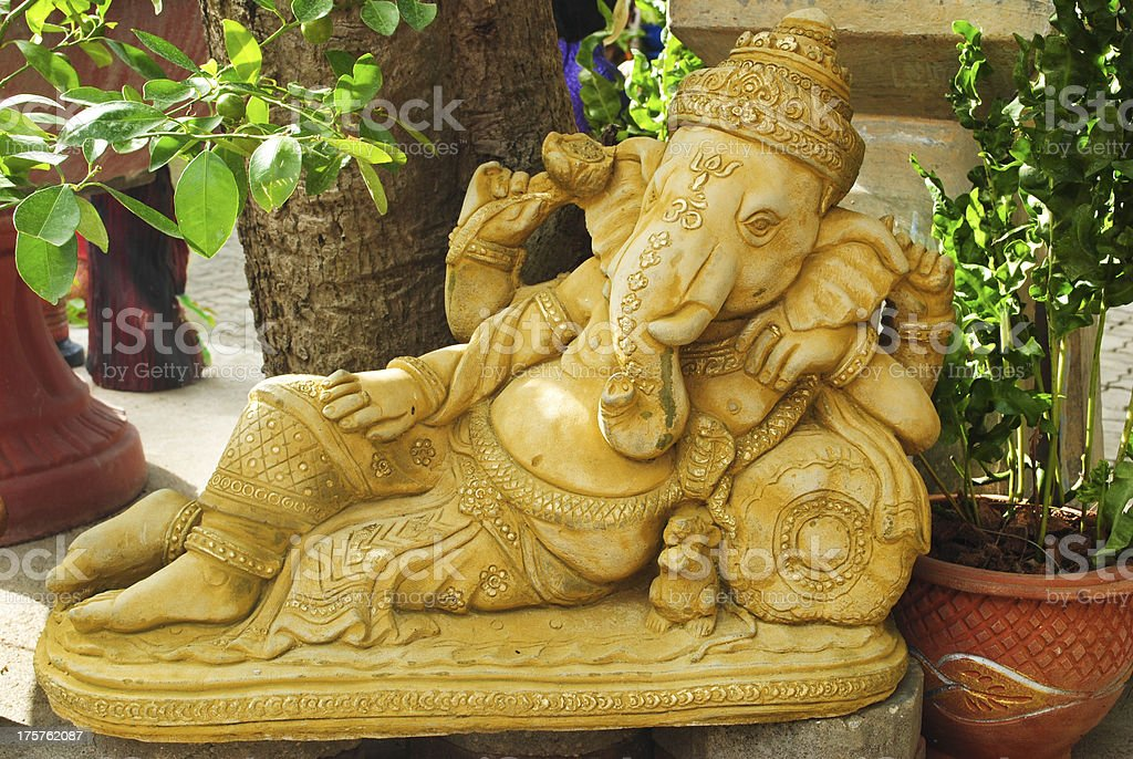 Golden statue of Ganesha royalty-free stock photo