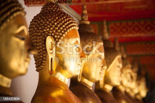 Golden statues in Bangkok, Thailand.