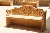 Golden Stone Bench at Jaisalmer fort, Rajastha  India