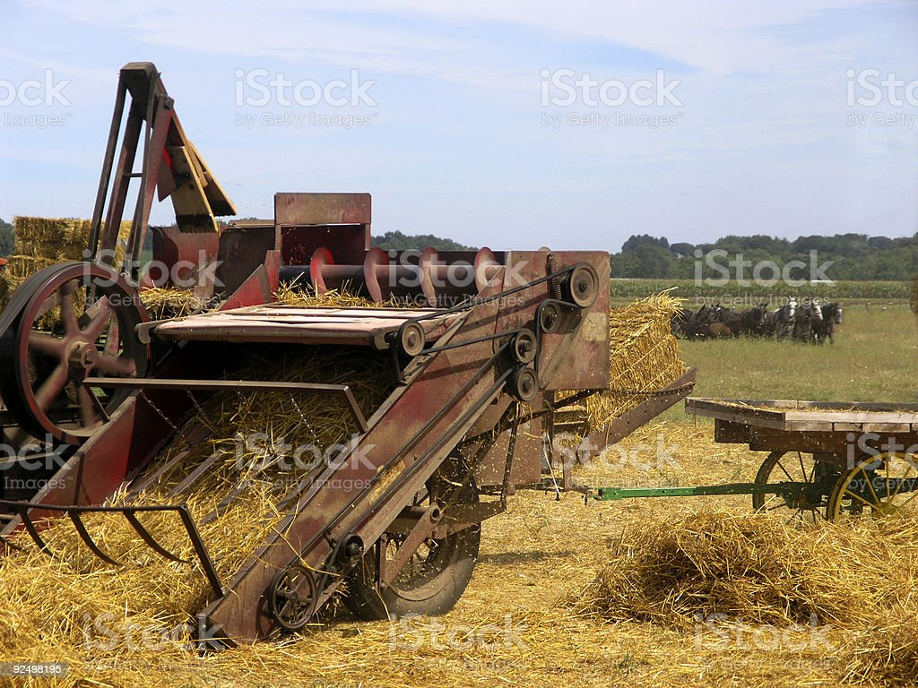 Golden Straw Baling royalty-free stock photo