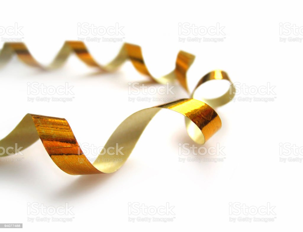 golden streamer royalty-free stock photo