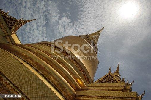 Image of Golden Stupa at Wat Phra Kaew, Bangkok,