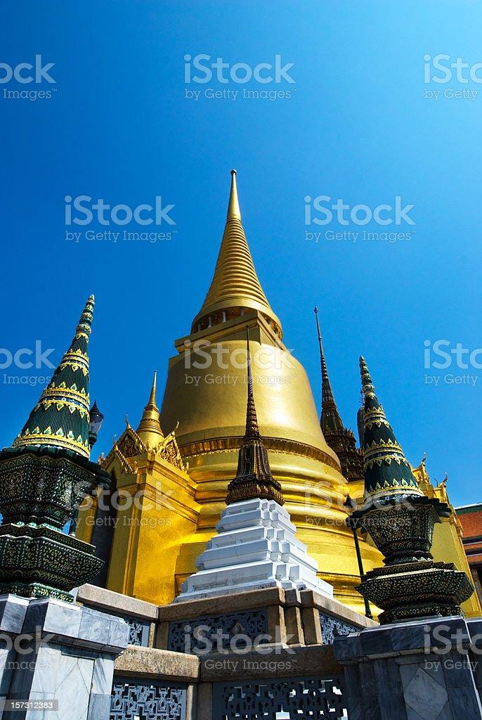 Golden Stupa at Wat Phra Kaew stock photo