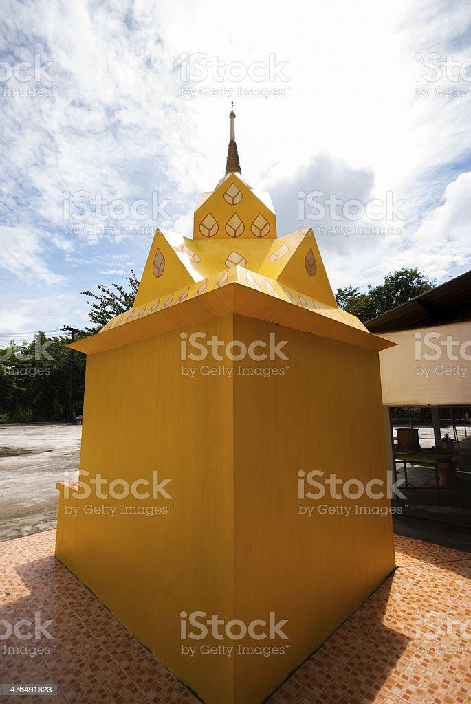 Golden stupa in Wat royalty-free stock photo