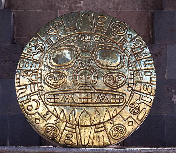 ゴールドサンのディスク、paititi 、「cuzco ,peru - インカ ストックフォトと画像