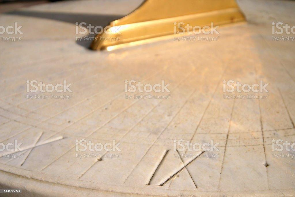 golden sundial royalty-free stock photo