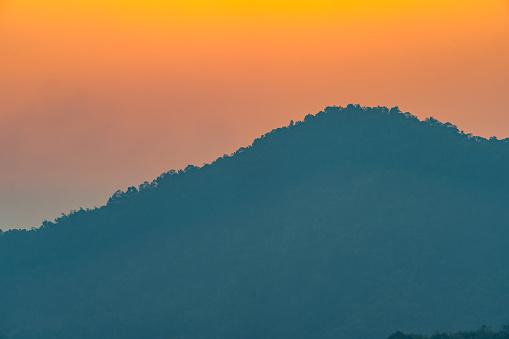 istock golden sunrise above the mountain range 1196505737
