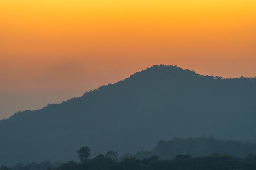 istock golden sunrise above the mountain range 1196505754