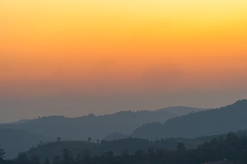 istock golden sunrise above the mountain range 1196505756