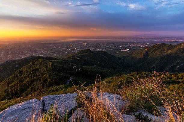 golden sunrise over islamabad - centaurus bildbanksfoton och bilder