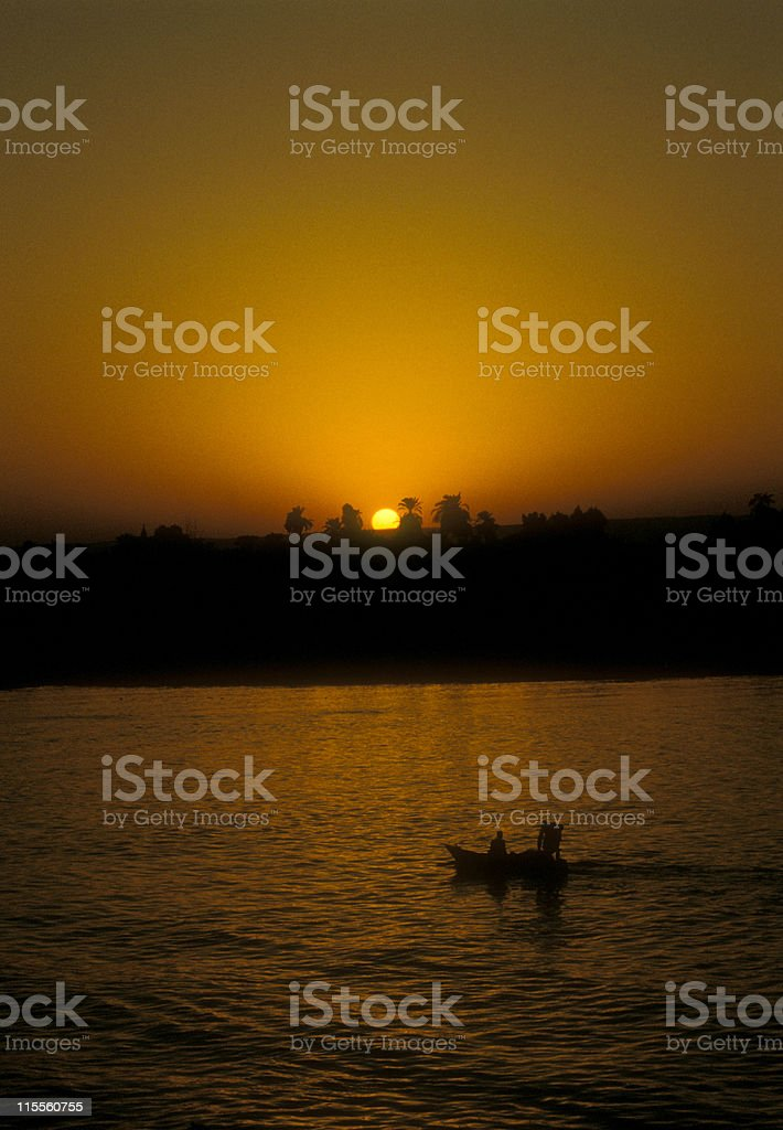 Golden Sunset at the Nile River, Egypt (4) royalty-free stock photo