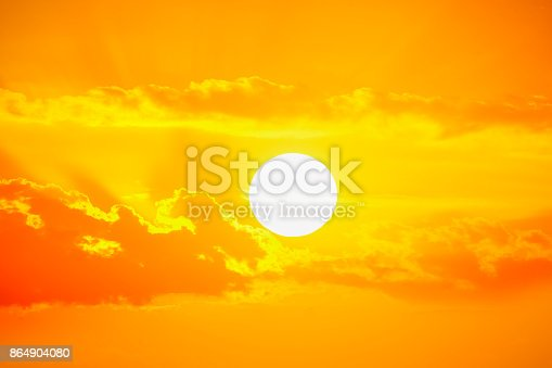 Golden sunset sky