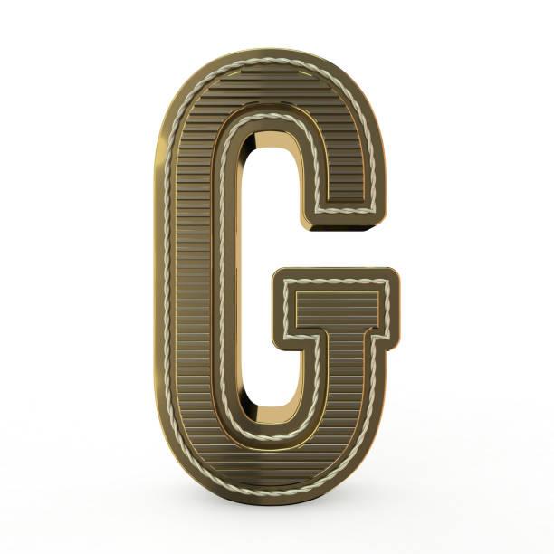 Golden symbol of the alphabet. 3D stock photo