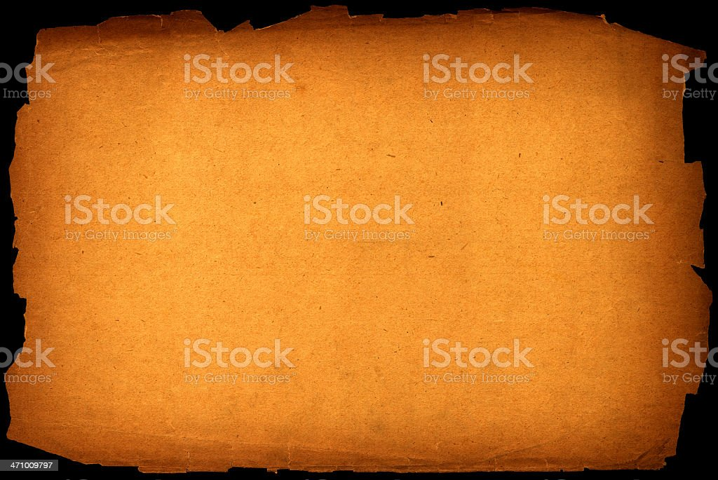 golden tattered old paper royalty-free stock photo