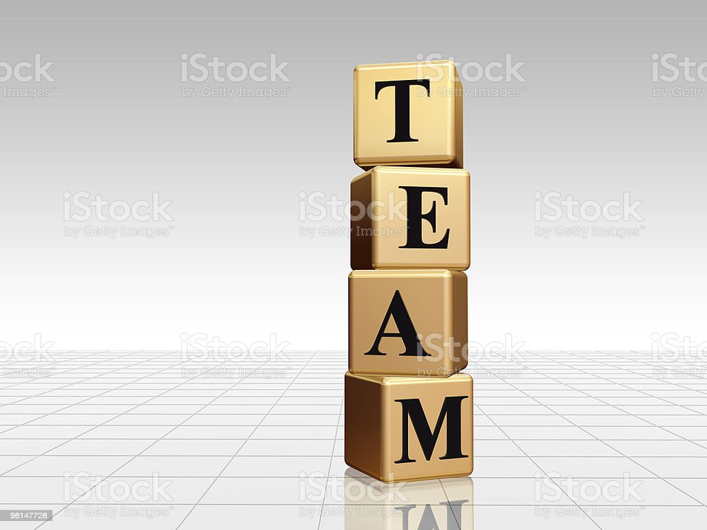 golden team with reflection royalty-free stock photo