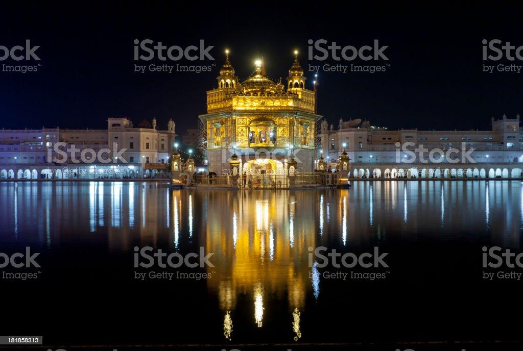 Golden Temple at night in Amritsar, India stock photo