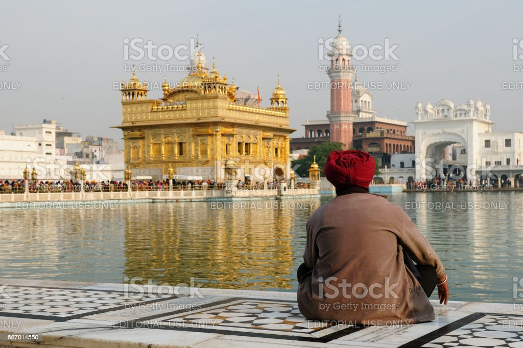 Golden temple in Amritsar stock photo
