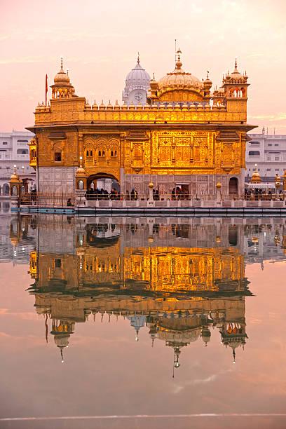 goldener tempel in amritsar, punjab, indien. - goldener tempel stock-fotos und bilder