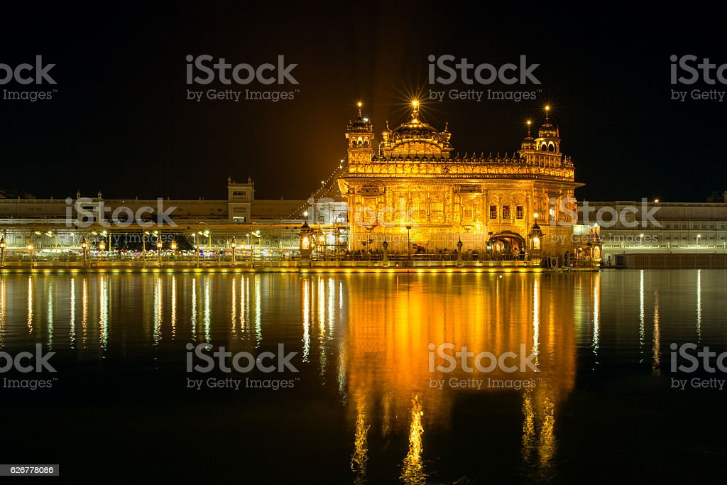 Golden Temple (Harmandir Sahib) in Amritsar, Punjab, India stock photo