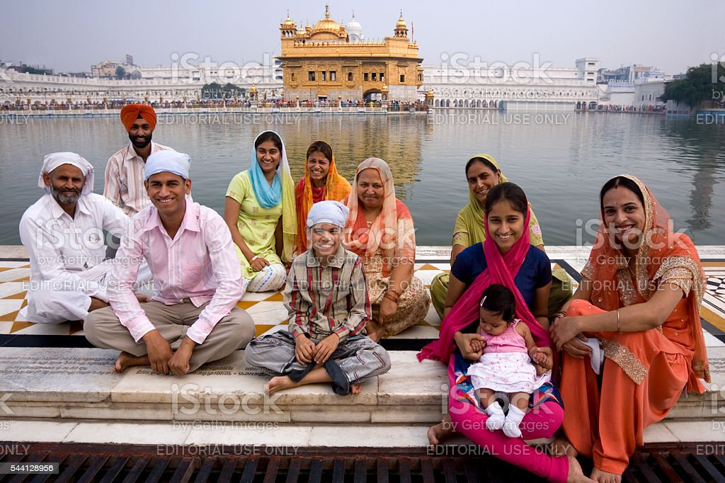 Golden Temple of Amritsar - India stock photo