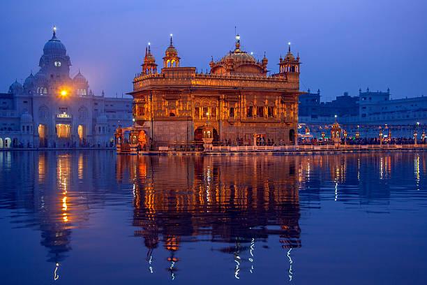 goldener tempel von amritsar-pubjab-indien - goldener tempel stock-fotos und bilder