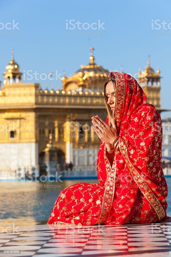 Golden Temple Prayers. stock photo
