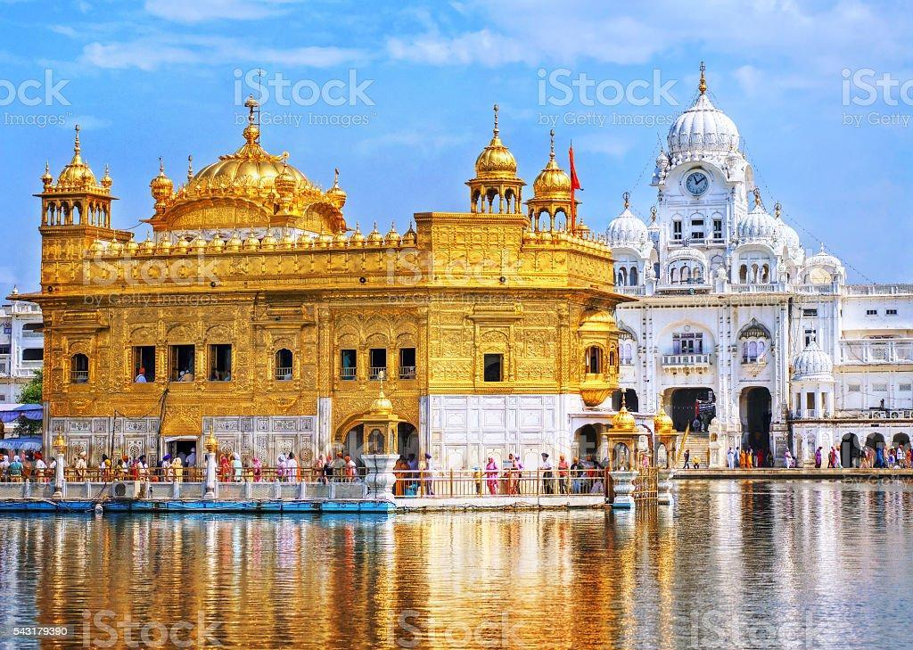 Golden Temple, the main sanctuary of Sikhs, Amritsar, India stock photo
