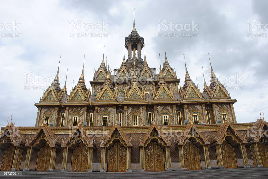 Golden Temple Wat Tha Sung Uthai Thani province Thailand royalty-free stock photo