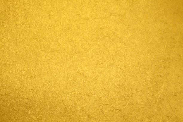 ゴールドテクスチャ背景 - 和紙 ストックフォトと画像