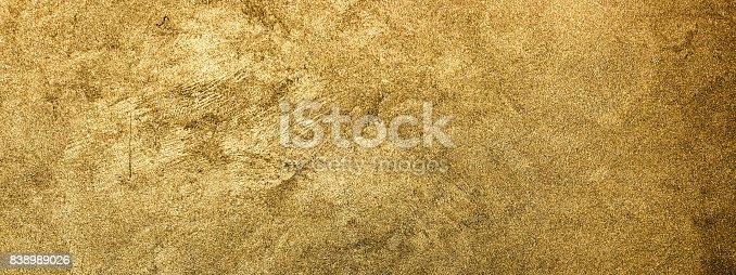 istock Golden texture background. Vintage gold. 838989026