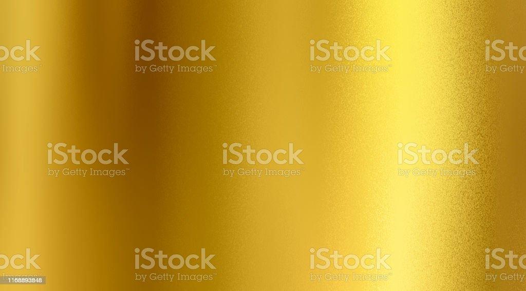 Golden textured background, Gold colour foil sheet, Beautiful design - Foto stock royalty-free di Acciaio