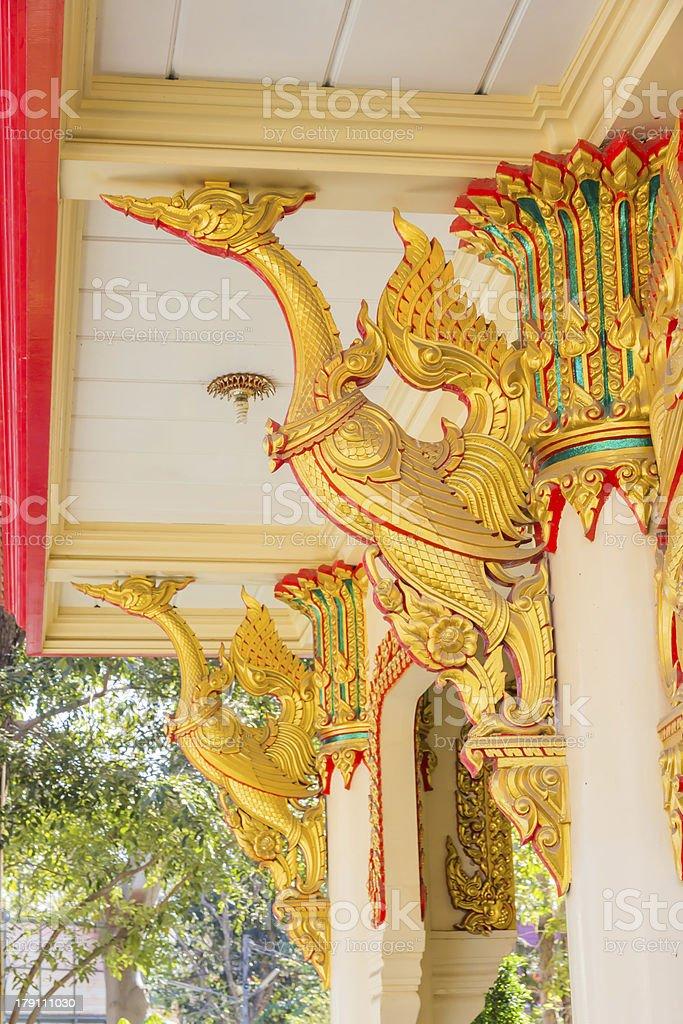 Golden Thai phoenix stock photo