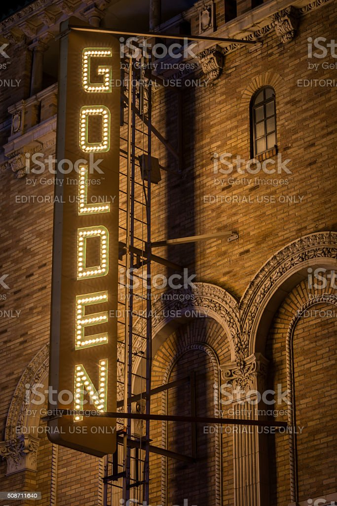 Golden Theater stock photo