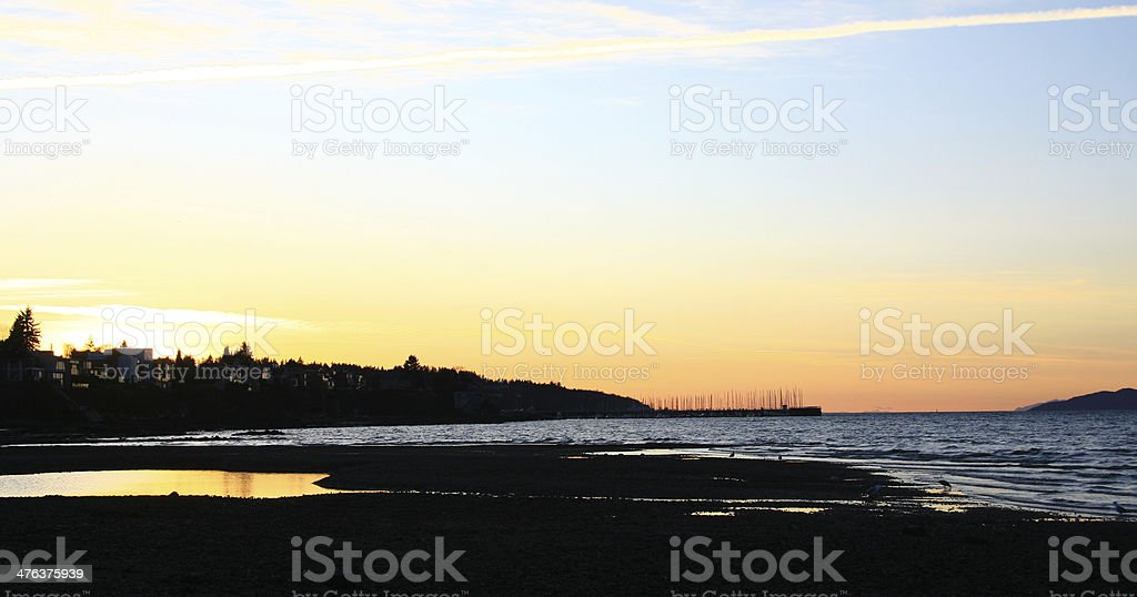 Golden Tide Pool royalty-free stock photo