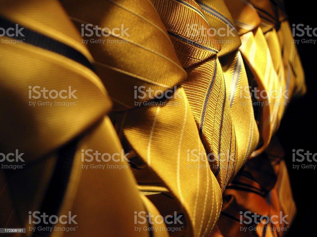 golden ties royalty-free stock photo