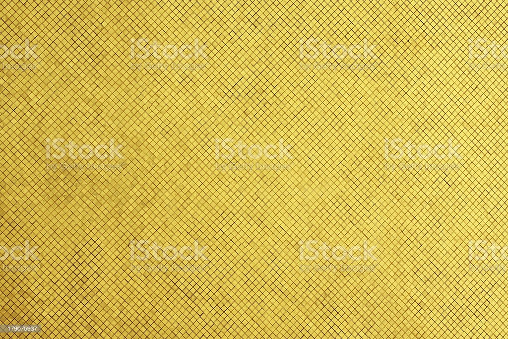 Golden tiled glasses mosaic royalty-free stock photo