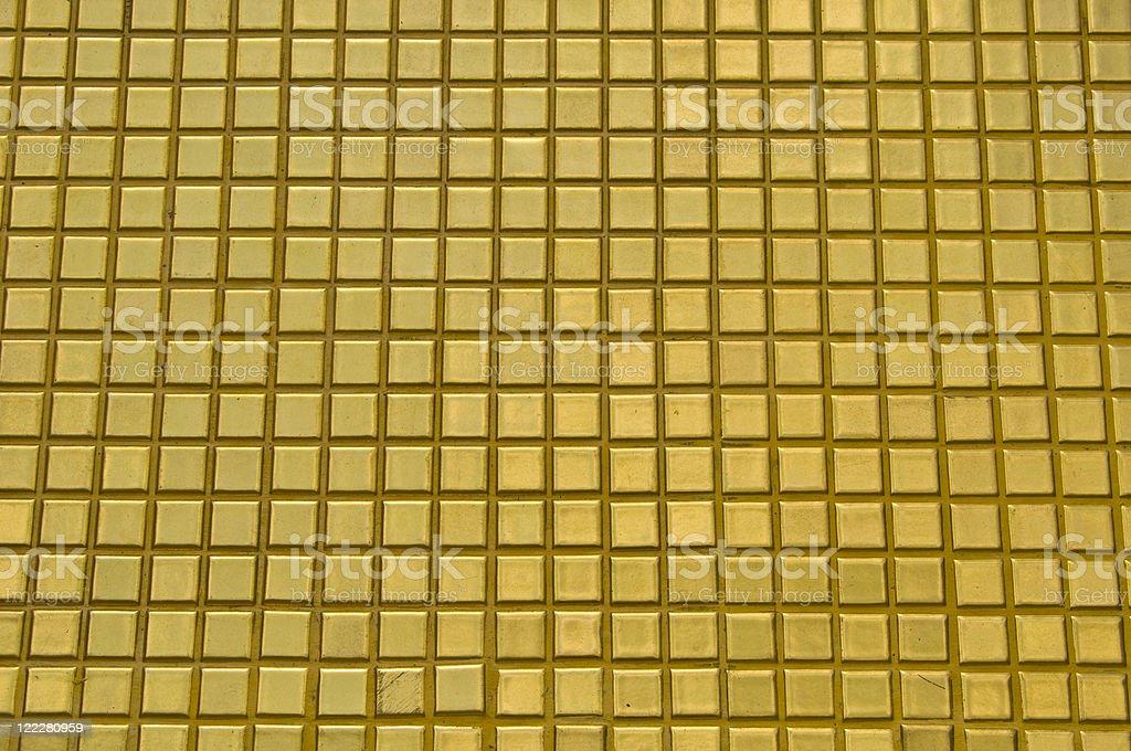 Golden tiles royalty-free stock photo