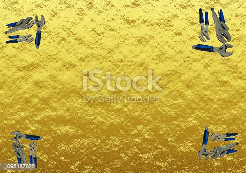 istock Golden tools of the trade 1095187622