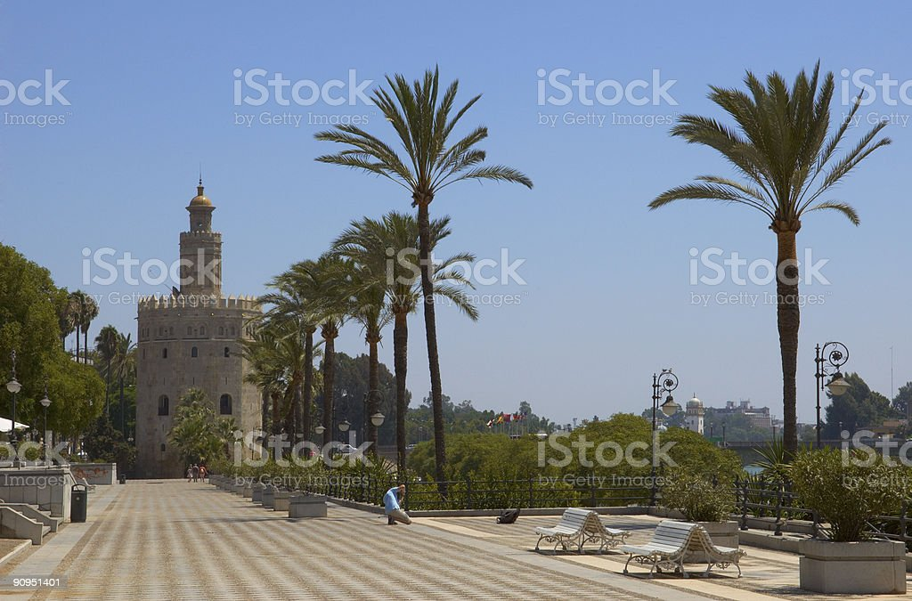 Golden torre royalty-free stock photo