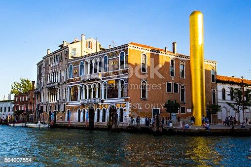 golden tower by artist james lee byars, the venice art biennale, Italy 2017-08-22