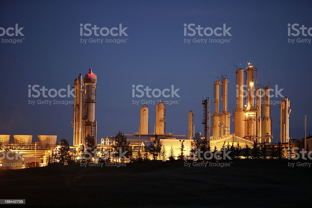 Golden Towers Refinery royalty-free stock photo
