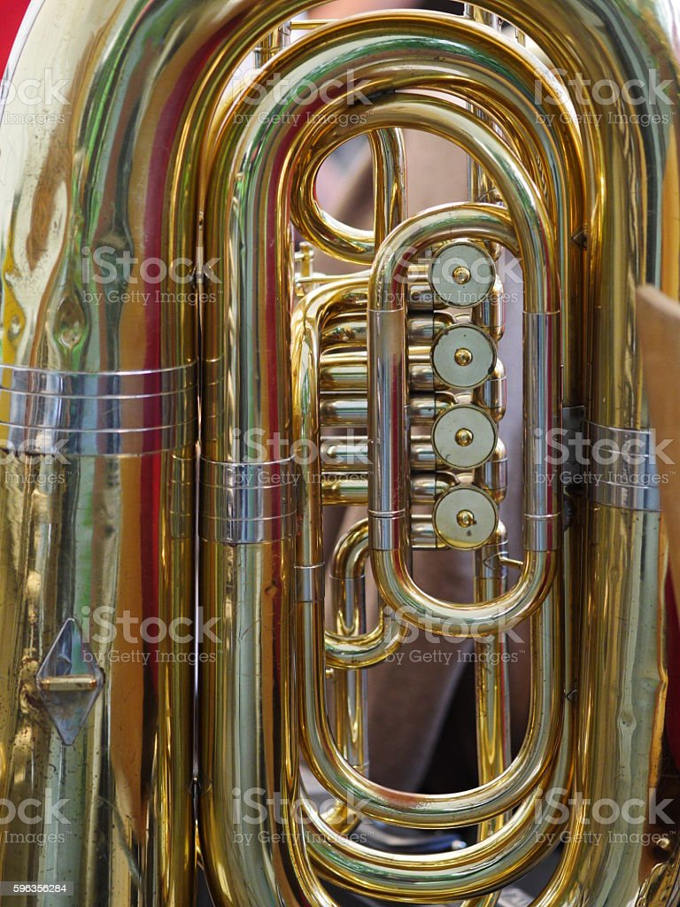 golden tuba royalty-free stock photo