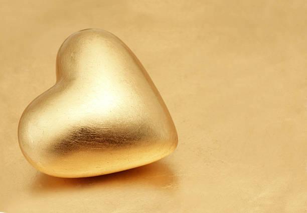 Golden Valentine stock photo