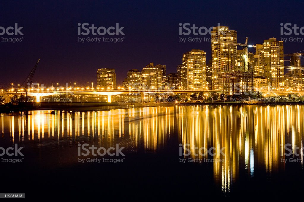 Golden Vancouver stock photo