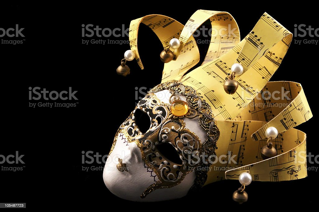Golden Venetian Mask royalty-free stock photo