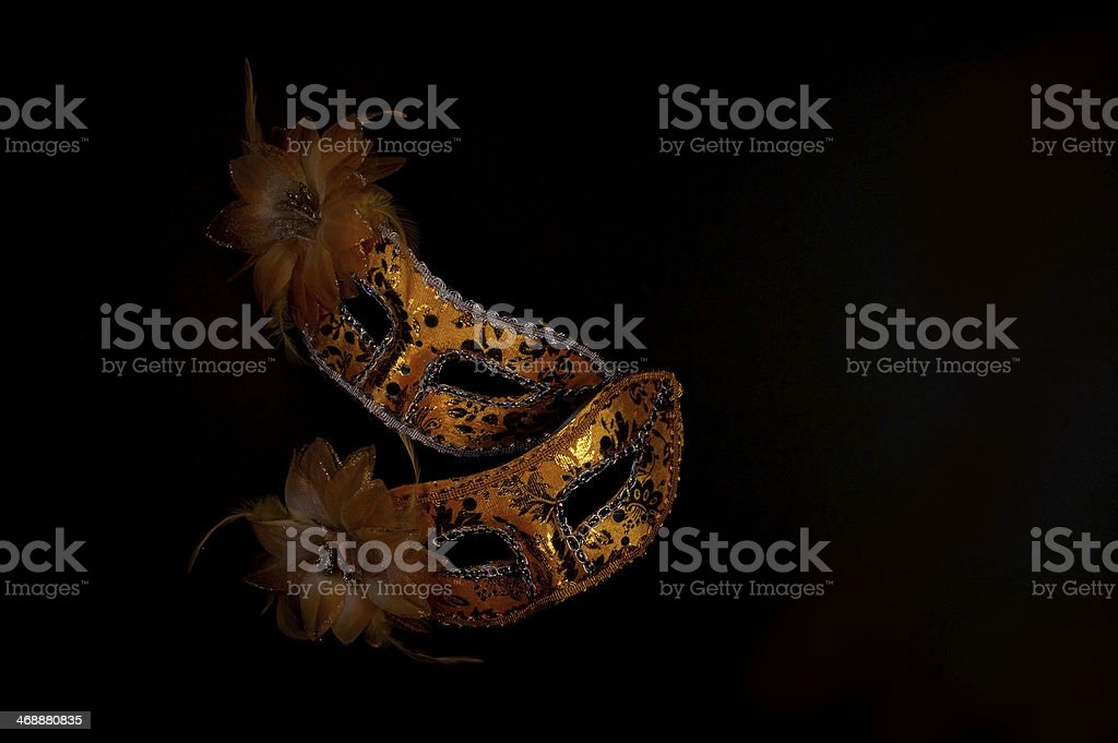 Golden Venice Masks stock photo