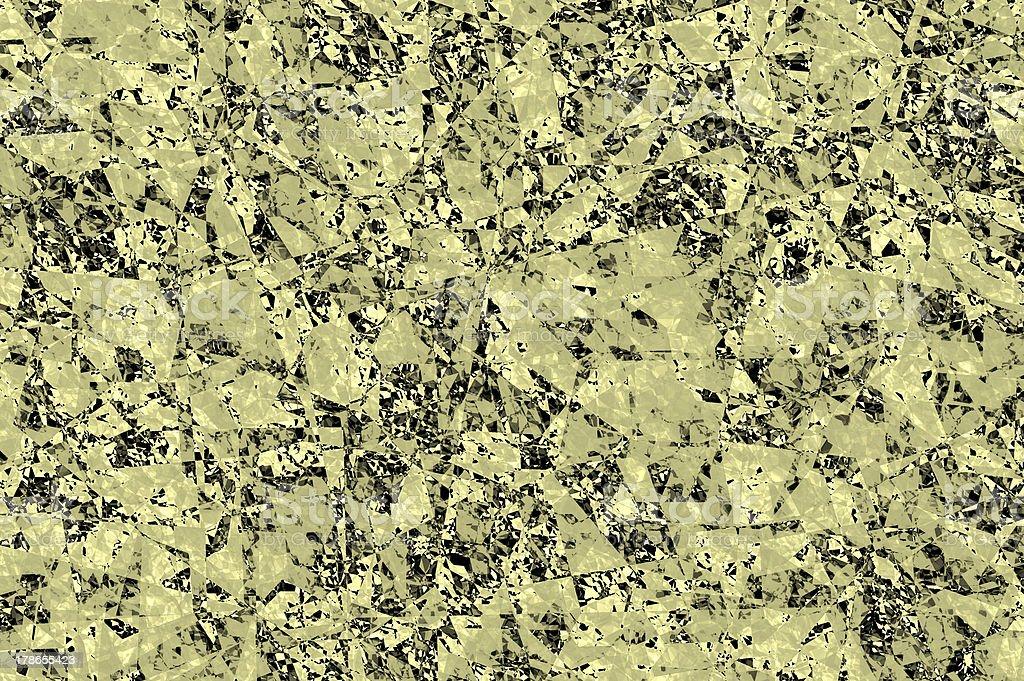 Golden vibrant mosaic background. iota. royalty-free stock photo